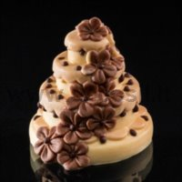 Mini cake with Flowers - silicone mould