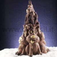 Reindeers Family Chocolate Christmas Tree LINEAGUSCIO Mould