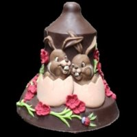 Bunny Chocolate Easter Bell LINEAGUSCIO Mould