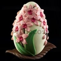 Orchids Chocolate Easter Egg LINEAGUSCIO Mould