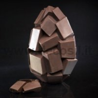 Cubes Chocolate Easter Egg LINEAGUSCIO Mould