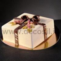 Holly Bow Square Ice Cream Cake mould