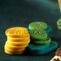 Poker Chips set shaped silicone mould