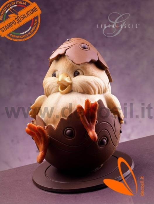 Chick Chocolate Easter Egg LINEAGUSCIO Mould