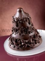 Pine cones Chocolate Christmas Bell LINEAGUSCIO Mould