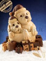Puppies Gift Chocolate Christmas Bell LINEAGUSCIO Mould