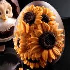 Medium Sunflowers Chocolate Egg Mould