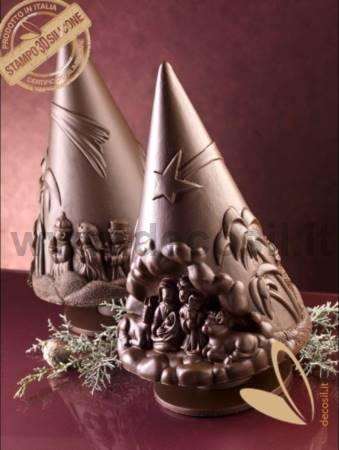 Nativity Scene Chocolate Christmas Tree LINEAGUSCIO Mould