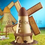 Windmill-shaped silicone mould