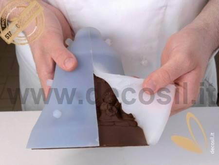 Pine cones Chocolate Christmas Bell LINEAGUSCIO Mould
