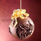 Holly Chocolate Christmas Ball LINEAGUSCIO Mould