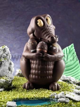 Crocodile Big Chocolate Easter Egg LINEAGUSCIO Mould