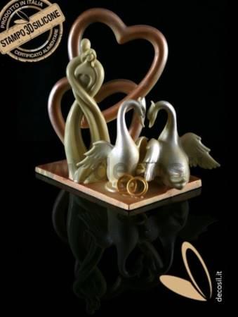 Stylized Couple Heart mould