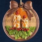 Christmas Candles Ornament silicone mould