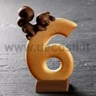 Number 6 Squirrel mould