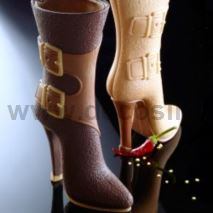 chocolate silicone mould high boots with buckles