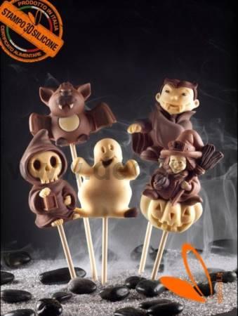 decoStick Halloween Chocolate Lollies mould